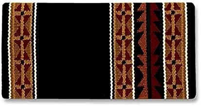 Mayatex Mojave Saddle Blanket, Black/Buckskin/Tan/Tibetan Red/Tabasco/Cream