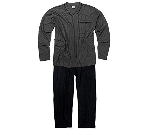 ADAMO Schlafanzug Langarm – in dunkelgrau/Anthra – größe Größen – bis 9XL