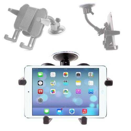 DURAGADGET Support réglable et solide pour pare-brise voiture amovible pour Apple iPad Air tablette 9,7\