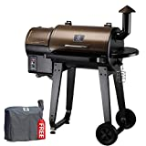 Z GRILLS ZPG-450A 2020 Upgrade Wood Pellet Grill & Smoker 6 in 1 BBQ Grill Auto Temperature Control, 450 sq in Bronze