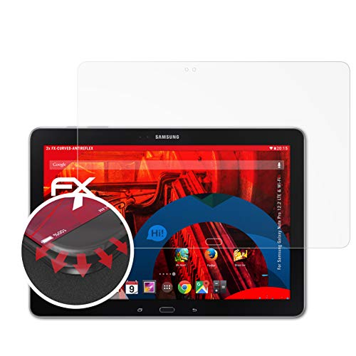atFolix Schutzfolie kompatibel mit Samsung Galaxy Note Pro 12.2 LTE und Wi-Fi Folie, entspiegelnde & Flexible FX Bildschirmschutzfolie (2X)