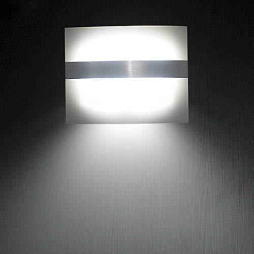 RAQ wandlamp met bewegingssensor, werkt op batterijen, draadloos nachtlampje, auto-wandlamp voor slaapkamer, hal, kast, keukenkast 2W Nature White (3500-5500K).
