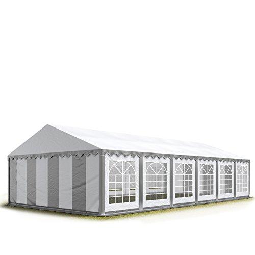 TOOLPORT 6x12 m Tente de réception/Barnum Gris-Blanc Toile de Haute qualité env. 500g/m² PVC