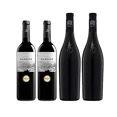 Vinos tintos Tintilla Nude y Marbore Pirineos Seleccion - D.O. Tierra de Cadiz y Somontano - Mezclanza Barbadillo (Pack de 2 botellas)