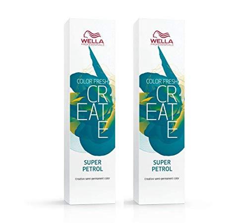 2 er Pack Color Fresh Create direktziehende Tönung Super Petrol 60 ml