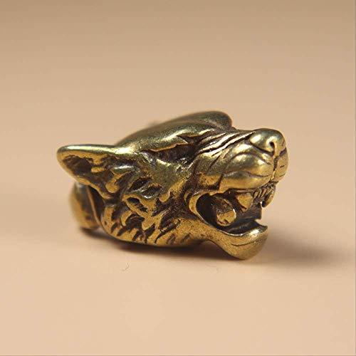 LBSST Vintage Copper Leopard head Keychains Pendant Brass Metal Animal Keychain Bag Charm Car Key Ring Holder Handmade Gifts Accessory