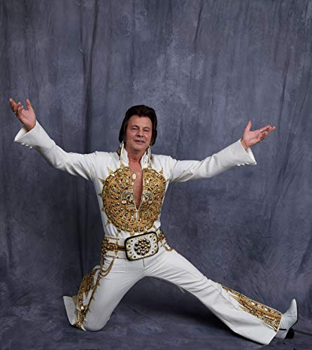 24 x 36 Giclee Print ofElvis Impersonator Tommy El Poses at The Night of 100 Elvises at The Lord Baltimore Hotel in Baltimore Maryland Where The Event has Been Going on for 24 Year u31 2017 Highsmith