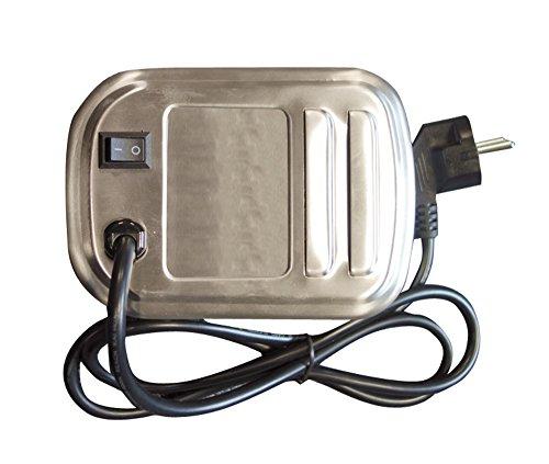 Cook'in Garden AC084 Moteur Tournebroche Électrique Inox 20,5 x 11,5 x 10 cm, 15 x 11 x 7 cm