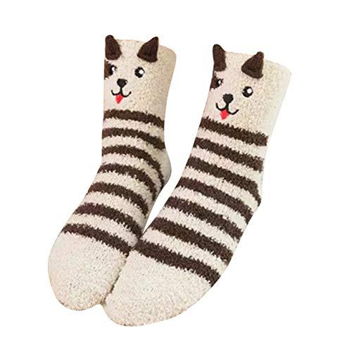 QZXCD Kerstkous voor dames en wintersokken van karton, verdikte sokken voor de winter, 1 paar Een
