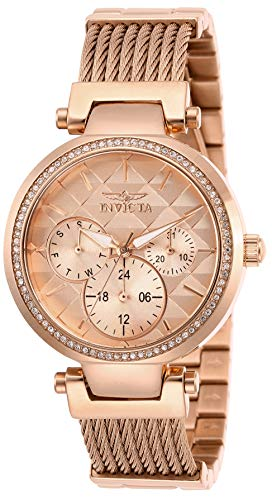 Invicta Women's Angel Quartz Stainless-Steel Strap, Rose Gold, 18 Casual Watch (Model: 28920)