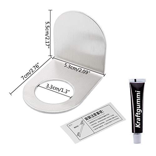 JOYKK roestvrijstalen wandmontage zeep douchegel dispenser flessenhouder haak plank badkamer keuken organizer zonder boren
