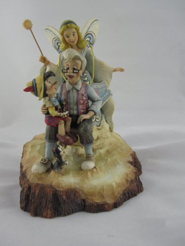 Disney Tradition 4023575 Pinocchio/Grillo Parlante/Fatine/Geppetto Resina, Design di Jim Shore, 21 cm