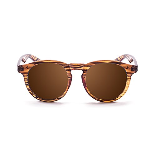 Paloalto Sunglasses Newport Gafas de Sol Unisex, Stripped Brown