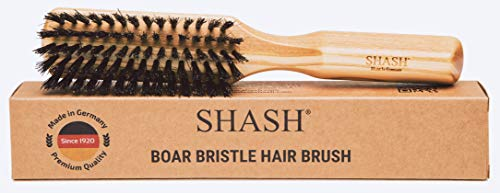Made in Germany Since 1920 - 100% Boar Bristle Hair Brush, Suitable For Thin To Normal Hair - Naturally Conditions Hair, Improves Texture, Exfoliates, Soothes and Stimulates the Scalp