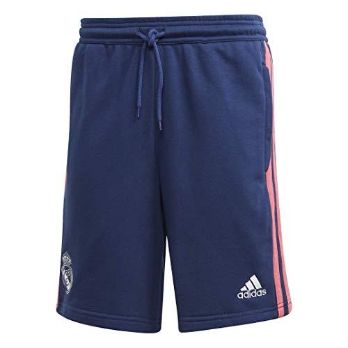 Adidas Real Madrid Temporada 2020/21 Pantalón Corto Paseo Oficial, Unisex, Azul, XL