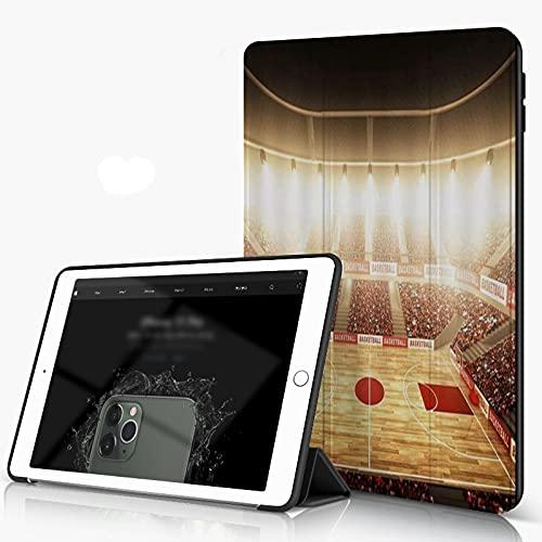 She Charm Carcasa para iPad 10.2 Inch, iPad Air 7.ª Generación,Cancha de Baloncesto Apasionado Juego de Baloncesto,Incluye Soporte magnético y Funda para Dormir/Despertar