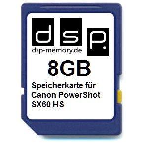DSP Memory Z de 4051557435865Tarjeta de Memoria de 8GB para Canon PowerShot SX60HS