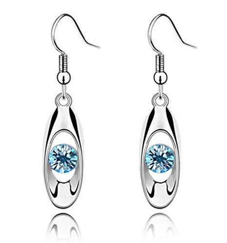 Hithop Fashion Crystal Drop Earring Oval Dangle Earrings Product Name