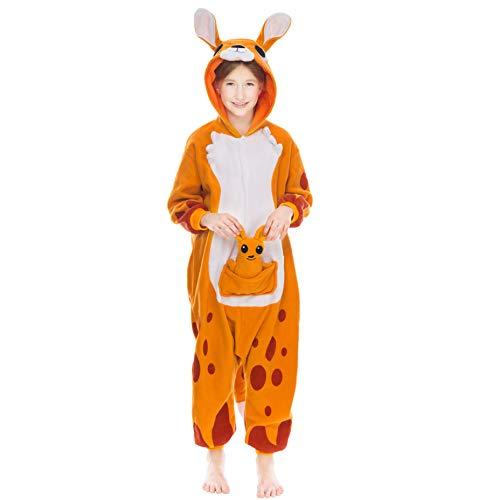 Spooktacular Creations Unisex Child Pajama Plush Onesie One Piece Kangaroo Animal Costume (7-9 yr)