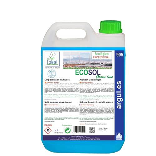 ECOSOL 2 Litros. ECOLABEL. Detergente profesional multiusos concentrado (limpia cristales) ECOLÓGICO. Limpieza...