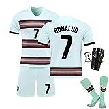 ZQYDUU Costumes De Maillot De Football Officiel Portugal 2021,Maillot De Football Homme,Ronaldo 7 T-Shirt De Sport,survêtement De Survêtement De Football Uniforme Extérieur #7-22