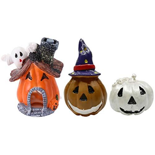 iplusmile Hundekostüm, Halloween-Kostüm, 3 Stück, künstliche Aquarium-Kürbis-Verzierung, Kunststoff-Verzierung