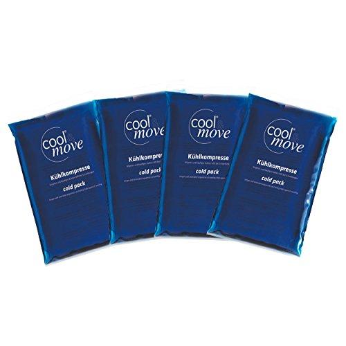 cool&move Nachfüllpack für cool&move Kühl- und Wärme-Bandagen für Damen und Herren - enthält 4 Kompressen