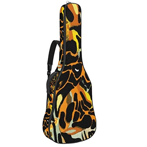 Bolsa para guitarra impermeable con cremallera suave para guitarra, bajo, acústico y clásica, para guitarra eléctrica, diseño de leopardo