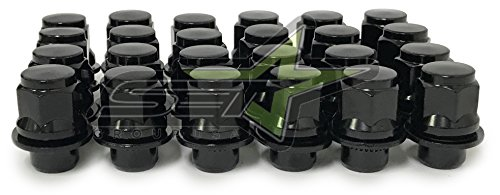24 MAG Lug Nuts 12x1.5 Works with Toyota Factory Wheels(Black)