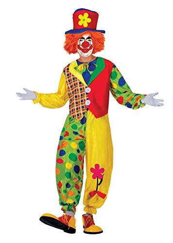 Ciao Herren Clown pagliaccio Costume Adulto Kostüme, Mehrfarbig, M