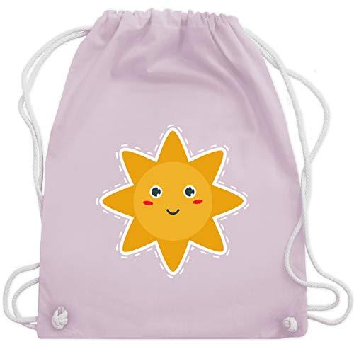 Shirtracer Bunt gemischt Kinder - Süße Sonne - Unisize - Pastell Rosa - gemischte turnbeutel - WM110 - Turnbeutel und Stoffbeutel aus Baumwolle