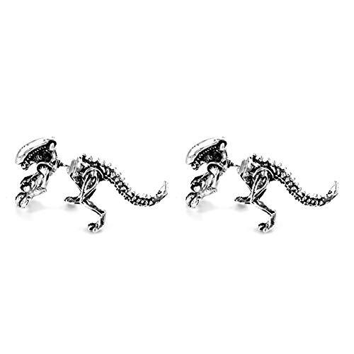 Kybbe 2 Pièces/paires Bijoux 3D monstre effrayant Alien Boucle D'oreille 4 Couleurs Dinosaure Mode Punk Maigre Alliage Piercing Boucle D'oreille Pour Halloween Nouveauté Cadeau