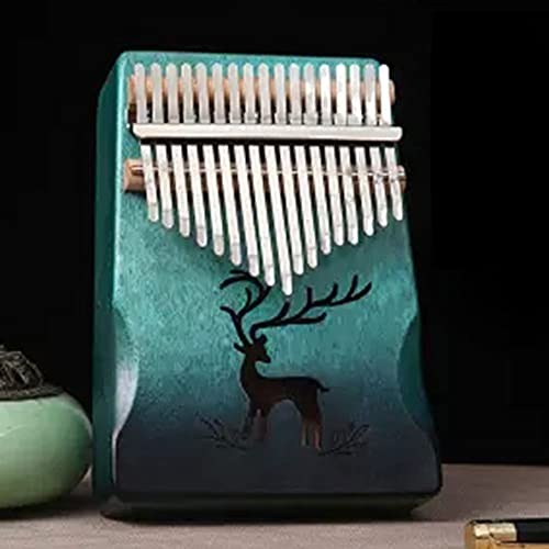 Kalimba 17 Teclas Thumb Piano - Pulgar Piano Portátil Mbira Sanza Africano Madera - Música Finger piano Kalimbas para Niños Principiantes Adultos Cumpleaños Idea de Navidad,A