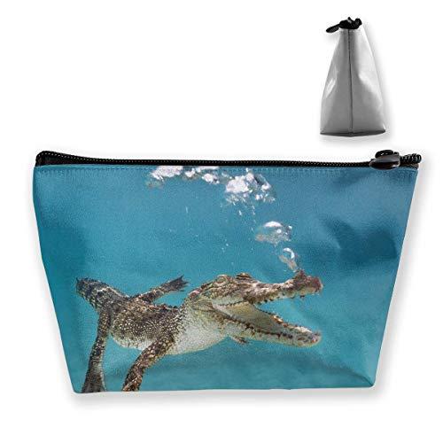 Multifunktionale Trapeztasche zum Schwimmen, Krokodil, Aufbewahrungstasche mit Reißverschluss, Einheitsgröße