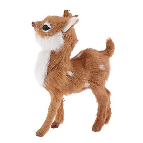 Baoblaze Pet Doll Plüsch Figur Kuscheltier Spielzeug Kitz Sika Deer Home Decor - Dunkelbraun