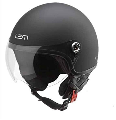 Casco Moto LEM- Roger Black Powder - NEGRO MATE