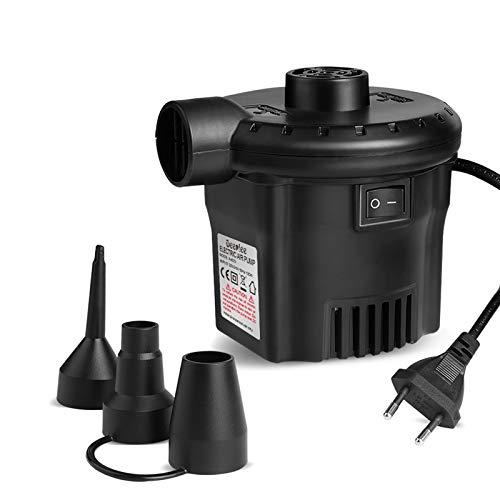 Deeplee Bomba de Aire Eléctrica, Inflador Eléctrico 130W de Alta Potencia para...