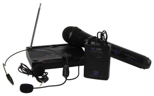 BoomToneDJ VHF ONE MHL F1 - Micrófono inalámbrico (banda VHF), color negro