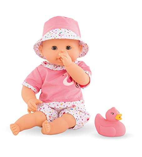 Corolle  Bebe Bath Calypso  Mon Premier Poupon 12quot Baby Doll and Rubber Duck Toy for Water Play