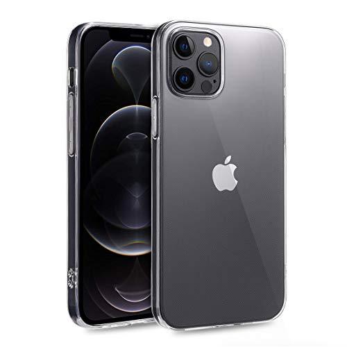 doupi UltraSlim Hülle kompatibel für iPhone 12 Pro Max (6,7 Zoll), Ultra Dünn Clear TPU Glatte Ruschfeste Oberfläche Design Handyhülle, transparent