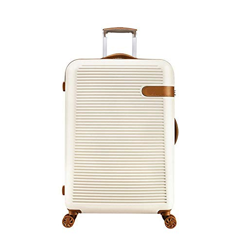 SFBBBO luggage suitcase Aluminum Drawbar Suitcase Carry On Luggage Spinner Koffer Cabin Trolley Bags 29' White