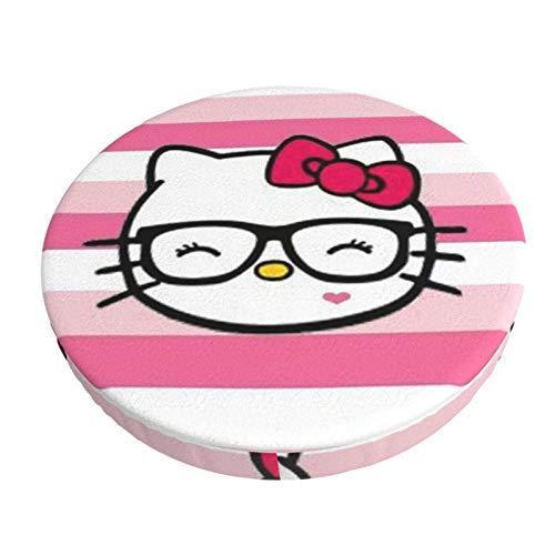 Copertura rotonda per sgabello da bar Hello Kitty, lavabile ed elastico, per sgabello rotondo da 35,6 cm