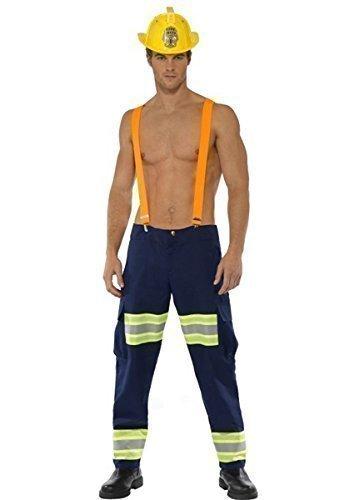 da uomo sexy fireighter POMPIERE OCCUPAZIONE SERVIZI DI EMERGENZA Costume vestito taglia media