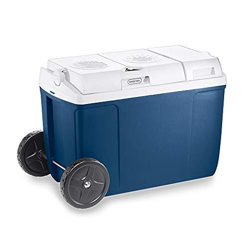 MT38W AC/DC - Thermo-Elektrische Kühlbox mit Rollen, 37 Liter, 12 V und 230 V für Auto, LKW, Steckdose, A++