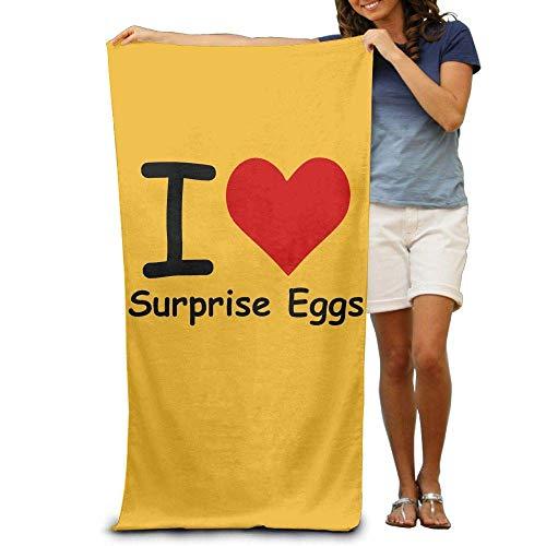 Strandhanddoek I Love Surprise Eieren Polyester Familie Badkamer, Hotel, Zwembad, Gym Snelle Droge Sterke Waterabsorptie, Milieuvriendelijk 31.5X51.2inches/80X130cm
