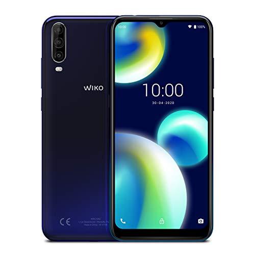WIKO VIEW4 LITE Smartphone, 4000 mAh Akku, 6.52 Zoll (16,5 cm), Dreifach-Kamera, 32 GB + 2 GB, Dual-SIM, Android 10, Deep Blue