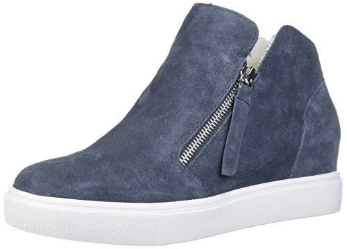 Steve Madden Women's Caliber-F Sneaker, Grey Suede, 6 M US