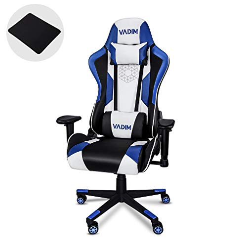 loriginal Racing R0 Gaming Chair Chaise pour PC // PS4 // Xbox One, Chaise de Bureau Ergonomique, Noir//Bleu DXRacer