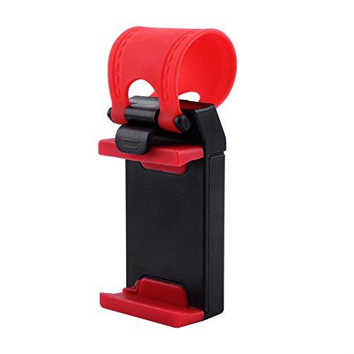 Vbestlife Volante Universal para automóvil Soporte para teléfono móvil Movilidad Libre, Dispositivo portátil Soporte Ajustable para GPS para Coche, Proteja el teléfono del Clip de Soporte