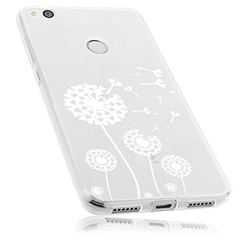 mumbi Hülle kompatibel mit Huawei P8 Lite 2017 Handy Case Handyhülle mit Motiv Pusteblume, transparent